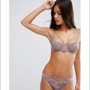 aee586d7067 ASOS Intimates & Sleepwear   Lingerie Gingham Lace Bra Panties Set ...